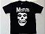 "Misfits ""Skull"" Camiseta Preta - Imagem 1"