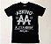 "Asking Alexandria ""Live Fast"" Camiseta Preta - Imagem 1"