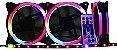 Kit 3 Fans Cooler Speed Control Argb Rainbow Af-j1225 - K-mex - Imagem 2