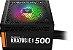 Fonte de Alimentação ATX 500W Kratos Gamdias E1-500W-RGB - Imagem 1
