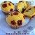 Muffin Tradicional Recheado com Gotas de Goiabada - ( 1und ) 70 gramas - Imagem 1