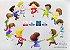 Roda Crianças lápis de cor (300 dpi em PNG, PDF e PSD) entrega via Download - Imagem 1