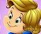 Menina de vestudo azul (imagem em vetor) - Imagem 3