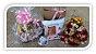 Cesta café da manhã personalizada, com buquê meia dúzia de rosas - Imagem 1