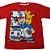 Camiseta Pokemon Ash e Pikachu Vermelha - Imagem 1