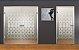 Adesivo jateado nichos - 172x074 cm (serve para qualquer porta ou janela) - Imagem 1