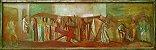 Arte Sacra, Quadro com Antiga Pintura, Técnica Mista Sobre Madeira, Via Crucis, Estilo Portinari - Imagem 1