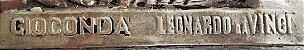G. Piccioli - Placa em Metal Espessurada a Prata, Assinada, Releitura de Monalisa, Leonardo da Vinci - Imagem 3