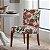 Capa para Cadeira de Malha Estampada Primavera Tamanho Único - Adomes - Imagem 1