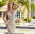 Vestido Bege Rendado Com tule - Eva Bella - Imagem 1