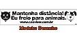 Adesivo - Mantenha Distância - Imagem 2