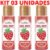 Kit 03 Gel Quente Aromatizante Morango 35ml Hot Flowers - Sexshop - Imagem 2