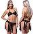 Kit Fantasia Desejos 7 Véus Preta Sexy Fantasy - Sex shop - Imagem 1