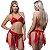 Kit Fantasia Desejos 7 Véus Vermelha Sexy Fantasy - Sex shop - Imagem 1