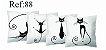 Kit 4 Almofadas Cheias - Estampas 03 - Imagem 4