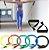 Kit completo para exercícios 14 peças de elásticos e extensores para exercícios - Imagem 4