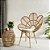 Cadeira pétala em fibra natural - Imagem 1