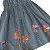 GYMBOREE vestido jeans bordado catavento 4 anos - Imagem 2