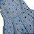 vestido listras azuis e pérolas 3 anos - Imagem 2