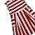 JACADI vestido algodão branco listras vermelhas 10 anos - Imagem 2