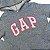 GAP KIDS casaco moletom cinza fechado c capuz 8 anos - Imagem 2