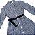 RALPH LAUREN vestido tipo chemise listras azuis e brancas 12 anos - Imagem 2