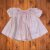 Vestido casinha de abelha rosa listras 0-3 meses - Imagem 1