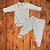 NINA MARIA conjunto body e calça crem PP 0-3 meses - Imagem 1