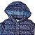 ZARA casaco com capuz acolchoado marinho estrelas rosa 18-24 meses  - Imagem 2