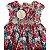 AMIME vestido algodão acetinado florido cinto flores c pérolas 3 anos NOVO - Imagem 2