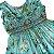 Vestido casinha de abelha verde flores do campo 1 ano  - Imagem 2