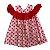 ÁGATHA RUIZ DE LÁ PRADA vestido algodão estp corações vermelhos 2 anos - Imagem 1