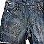 GAP KIDS jardineira jeans short c flores bordada L 9-10 anos  - Imagem 2