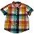 GYMBOREE camisa social xadrez amarelo e laranja mg curta 4 anos  - Imagem 1