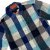 TOMMY HILFIGER camisa social xadrez laranja e azul 2 anos  - Imagem 2