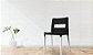 Cadeira VEZO ECO Preto com Pés Alumínio PRATA Fosco - Imagem 5