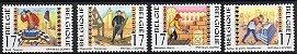 1997 Bélgica - serie Artesões - simbologia maçônica - Imagem 1