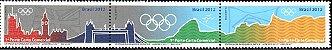 2012/2015 Série Entrega da Bandeira Olímpica (mint) Series Olympic flag Delivery - Imagem 1