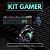 Kit Gamer Teclado Mouse Headset USB P2 Philips e Exbom - Imagem 1