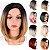 Peruca Fibra Japonesa Curta sem Franja Lisa Ombre Hair - Imagem 1