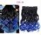 Aplique de Cabelo Orgânico Tic Tac Ombre Hair Ondulado 1 peça 60 cm 130g - Imagem 2