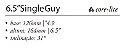 "Quilha Shapers Long Core Lite Single Guy 6.5"" - Imagem 2"