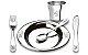 Conjunto Talheres 5 peças Inox Friends Club Brinox - Imagem 1
