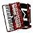 Acordeon Michael ACM12007 PRD de 120 Baixos Vermelho Perolado - Imagem 1