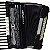 Acordeon Cadenza CD80/37 80 Baixos Preto c/ Case - Imagem 6