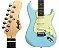 Guitarra Memphis MG-30 SBLS Azul Fosco - Imagem 1