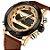 Relógio Dual Time NAVIFORCE pulseira de couro  - Imagem 3