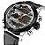 Relógio Dual Time NAVIFORCE pulseira de couro  - Imagem 4