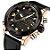 Relógio Dual Time NAVIFORCE pulseira de couro  - Imagem 5
