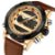 Relógio Dual Time NAVIFORCE pulseira de couro  - Imagem 1
